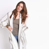 shop-sofia Stripe Long Cardigan Sofia Collections Italian Silk Linen Satin
