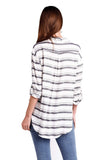 shop-sofia Stripe Top Sofia Collections Italian Silk Linen Satin