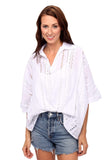 shop-sofia Tops WHITE Susan Top Sofia Collections Italian Silk Linen Satin