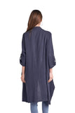 shop-sofia Tina Tunic Sofia Collections Italian Silk Linen Satin