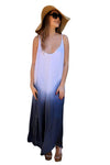 shop-sofia Zoey White Navy Sleeveless Maxi Sofia Collections Italian Silk Linen Satin