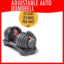 Adjustable Automatic Dumbbell 52.5lbs (23.8Kg) | Ready Stocks!