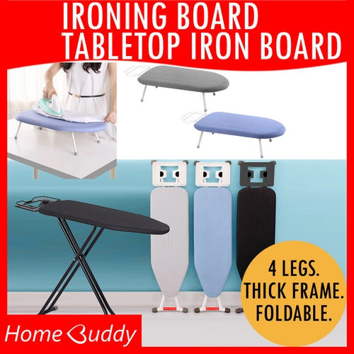 Ironing Board [THICK Frame, foldable, height-adjustable] | Tabletop | Ready Stocks!