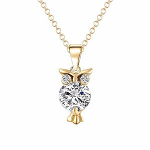 Gold Owl Chain Necklace