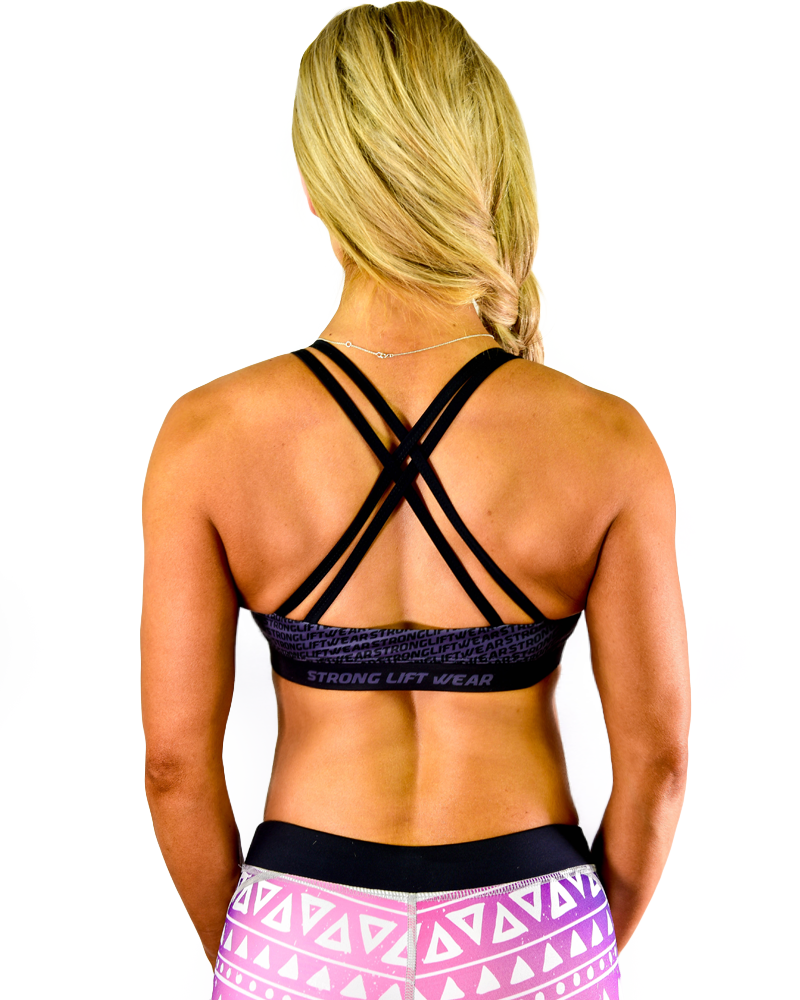 Womens Sports Bra - Black