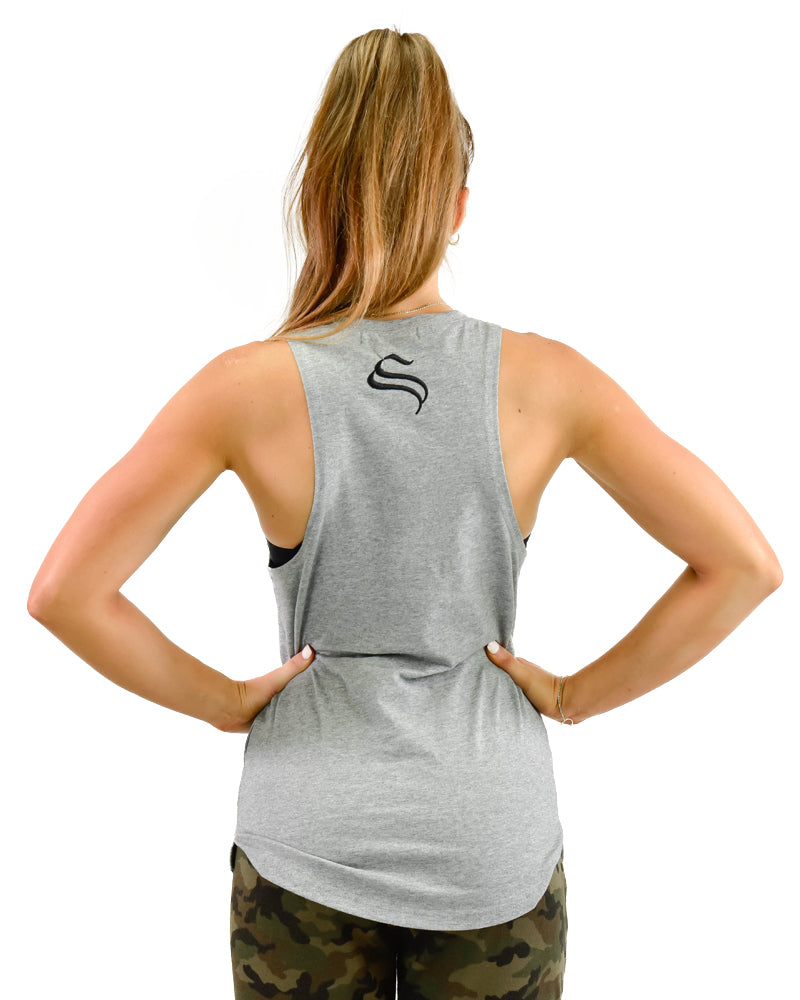 Ladies boulder sleeveless - Rise n' Grind - Grey