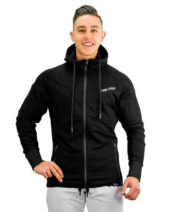 Active Training Hoodie - Zip - Black