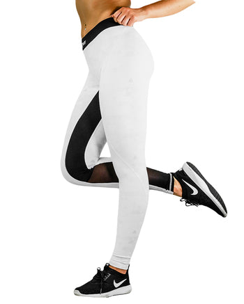 Compression Pants - Geo - White