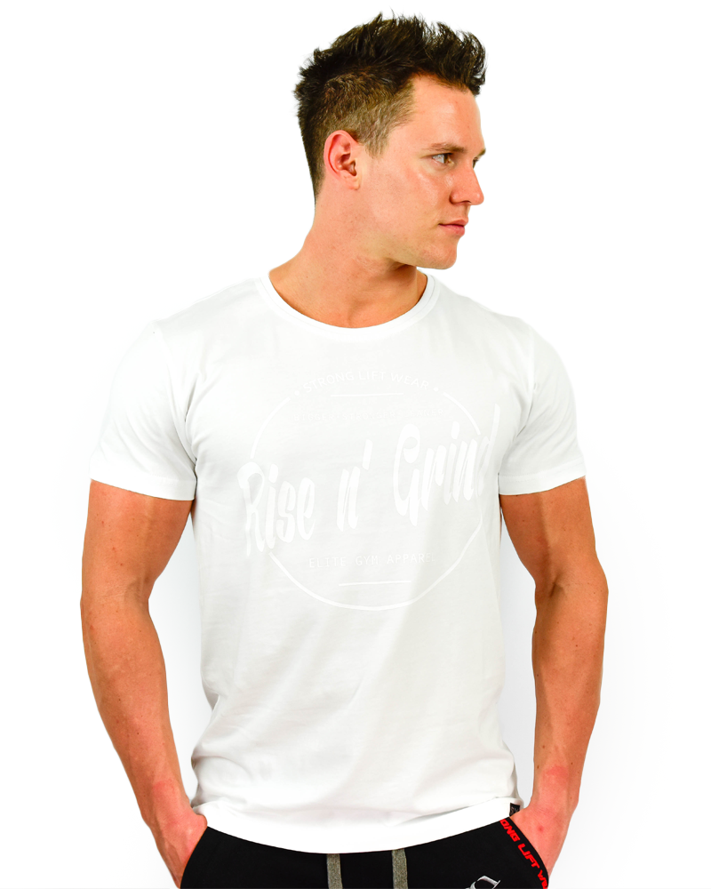 Rise n' Grind Tee II - CoolTech - White