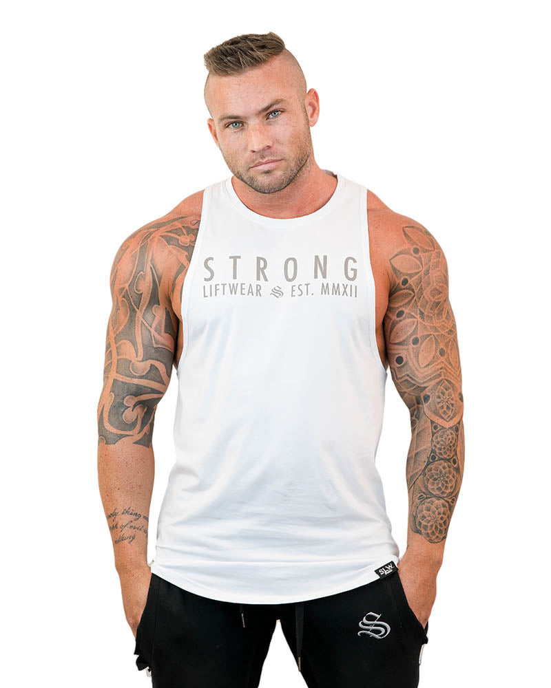 Strong Longline Boulder Sleeveless - White