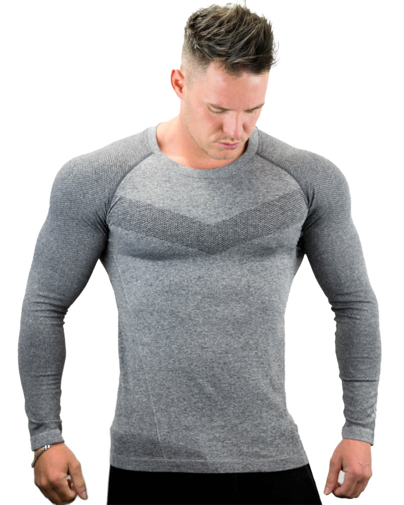 Seamless Long Sleeve Tee - Ultra - Gray