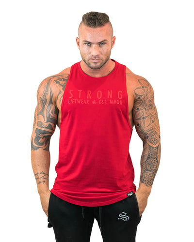 Strong Longline Boulder Sleeveless - Red