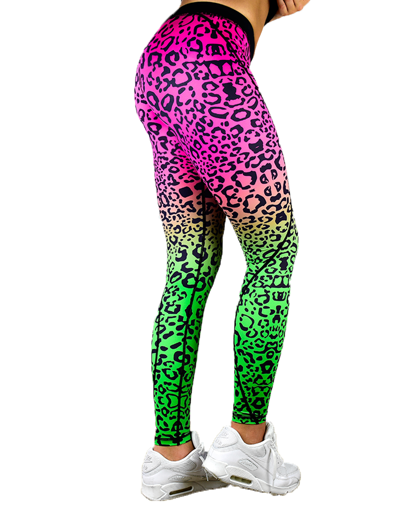 Fusion Compression Pant - Pink Leopard