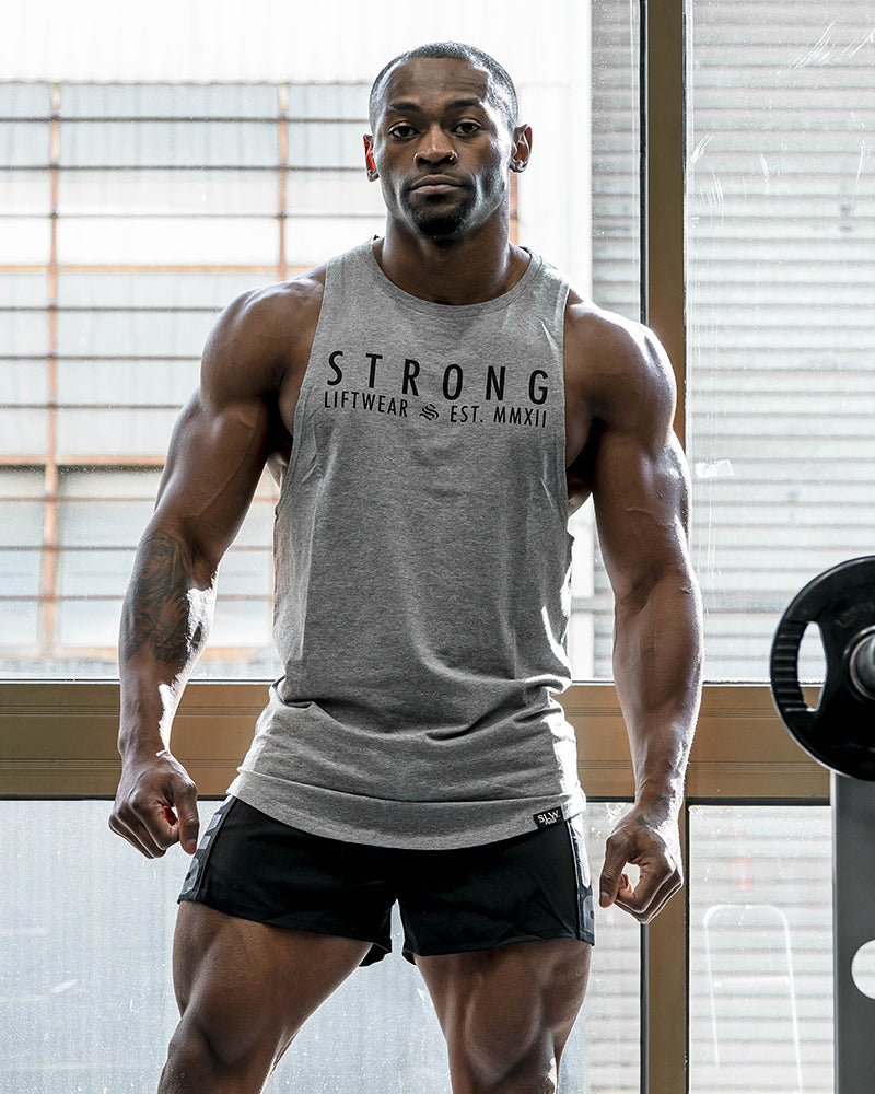 Strong Longline Boulder Sleeveless- Grey