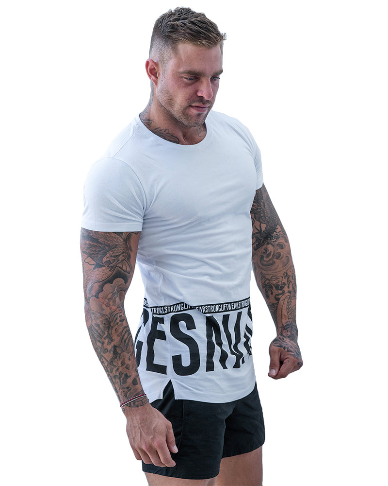 Savage Longline Tee- White