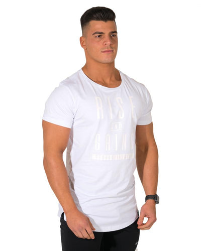 Rise & Grind Longline Tee- White
