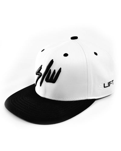 S LIFT Snapback - Raw - White & Black