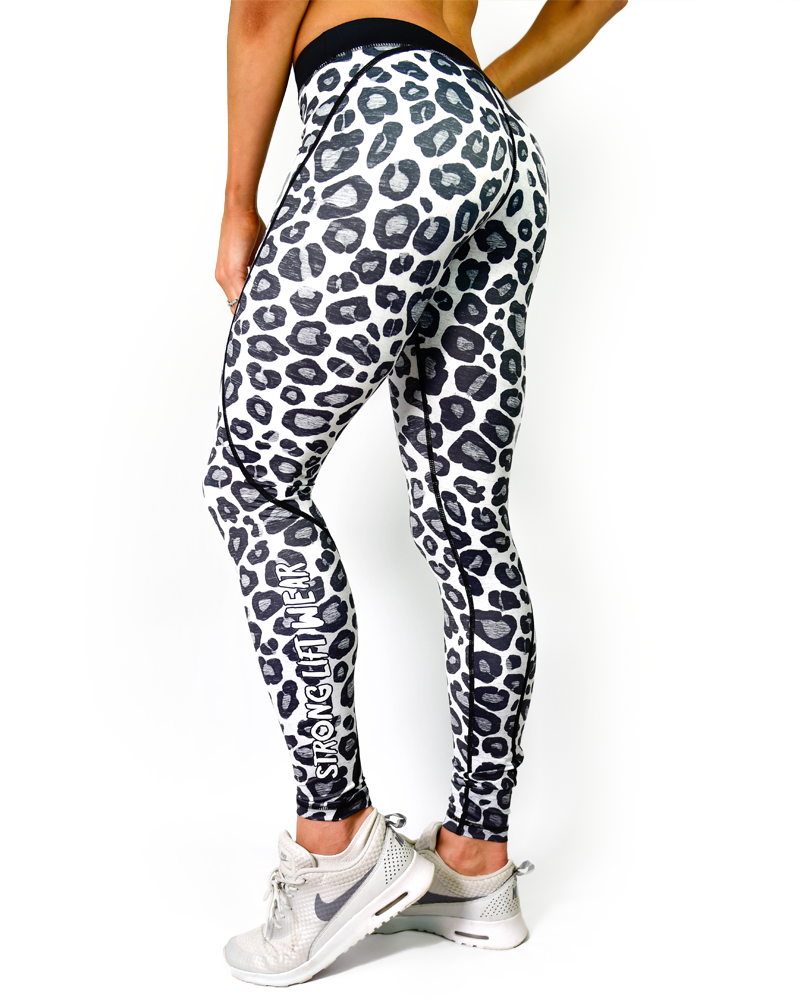 Safari Compression Pants - Snow Leopard