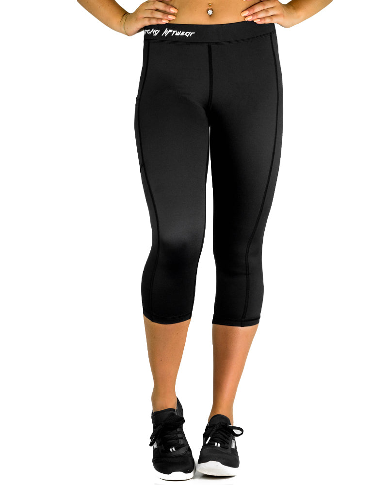 Compression Pants- 3/4- Black