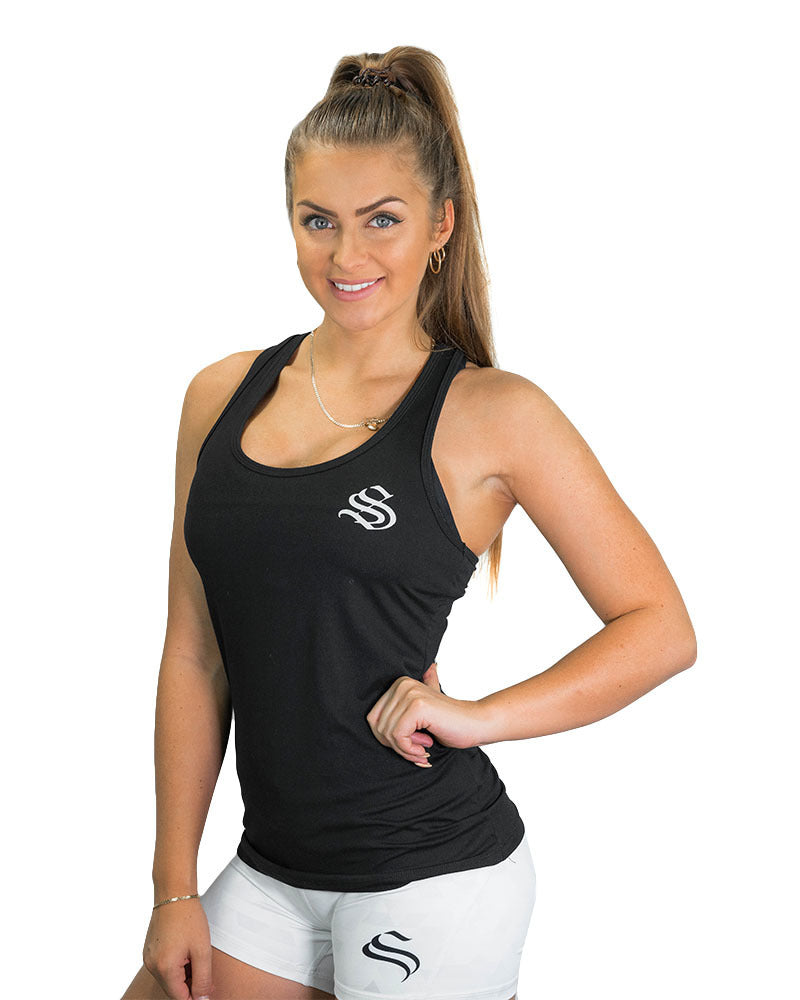 Ladies Active Racerback- Black