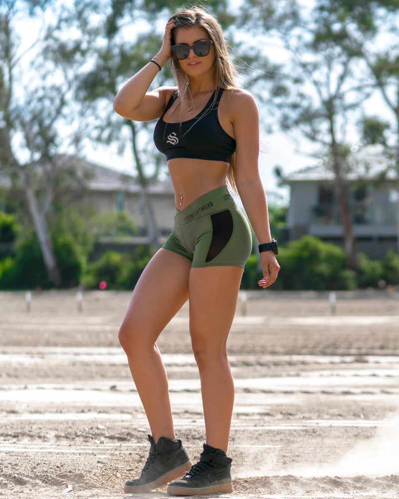 Womens V Short Green