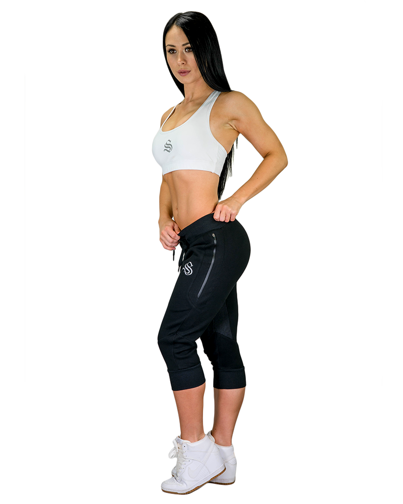 Womens Meshtech 3/4 Training Pant- Black