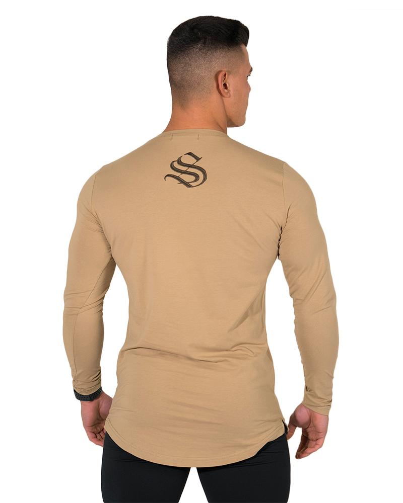 Longline Long Sleeve Tee - Khaki