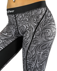 Compression Pants- Etched- Black