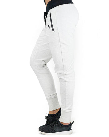 Womens Training Pants - Active - White Heather