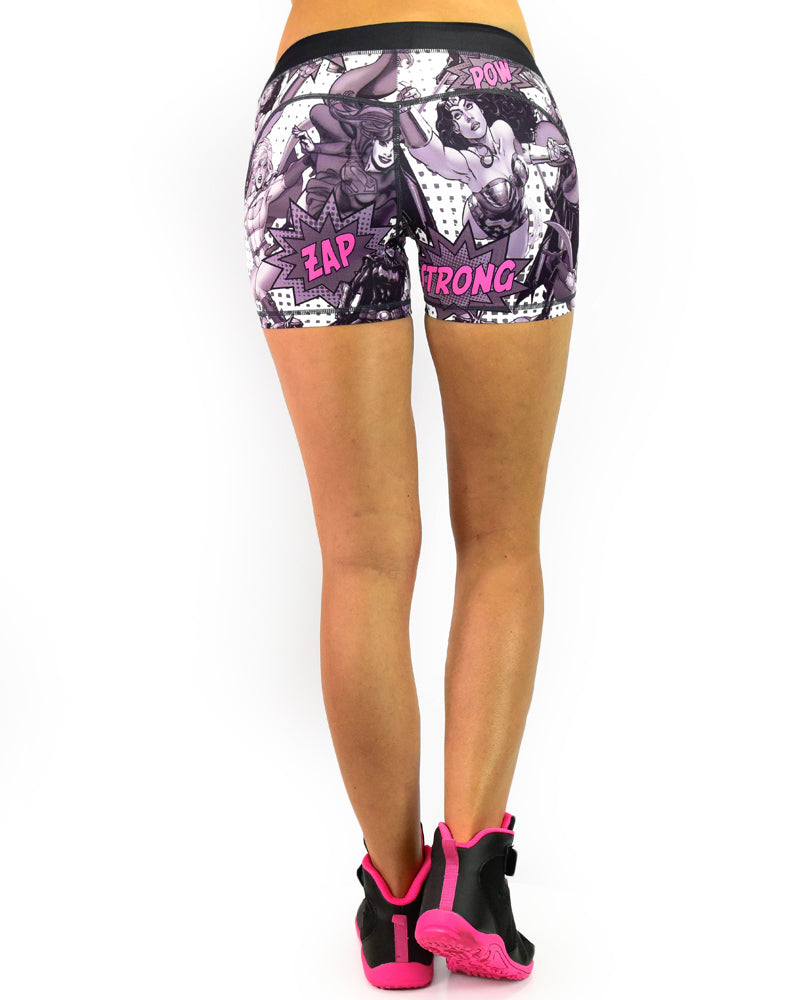 Womens Booty Shorts - Super - Pink
