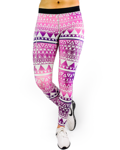 Aztec Compression Pants - Triangle