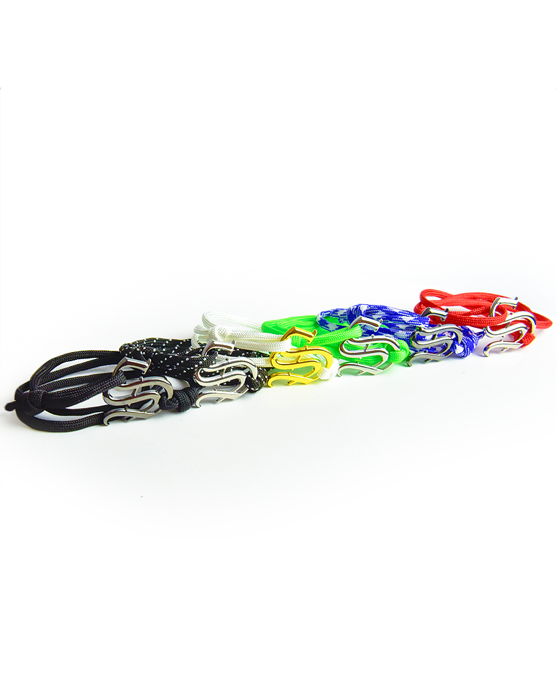 Insignia Wrist Rope - Green & Silver