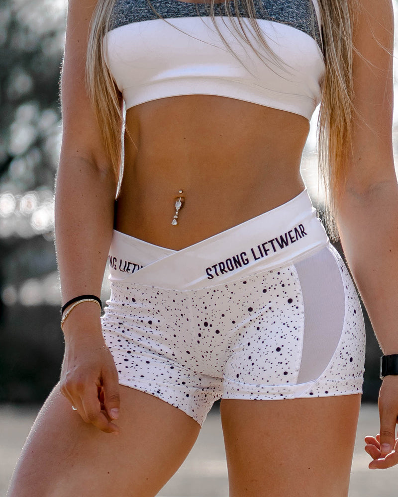 Womens V Short White
