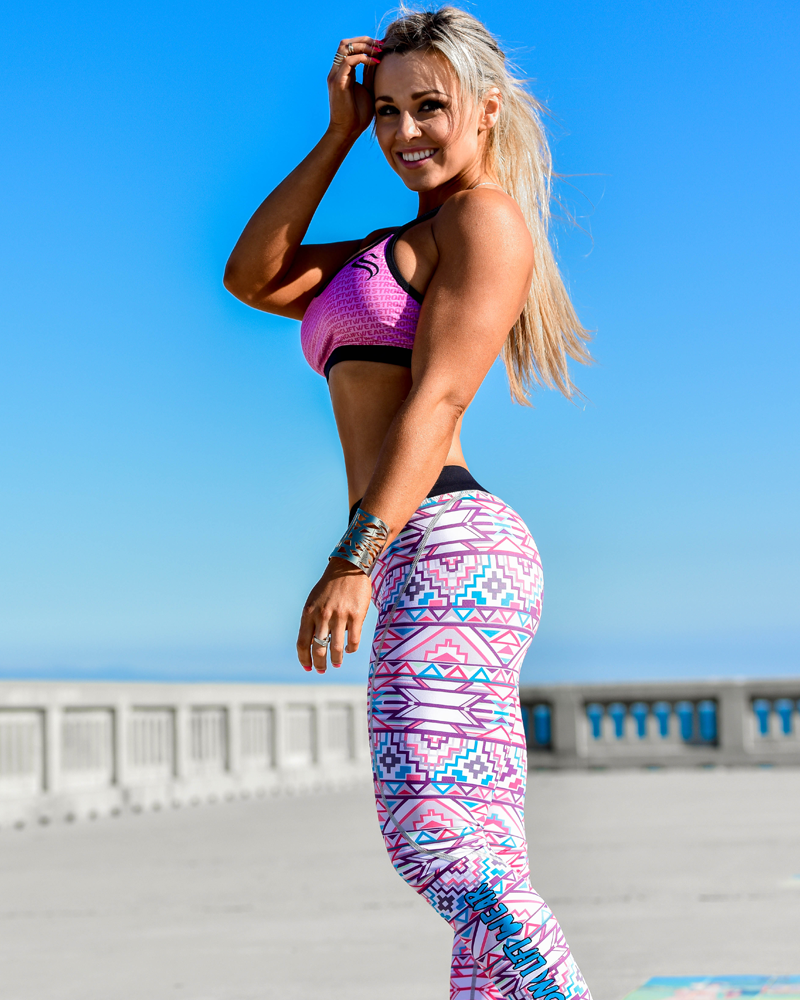 Aztec Compression Pants - Geometric