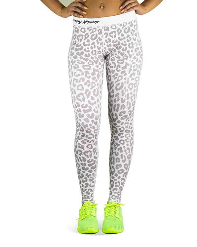 Compression Pants- Leopard- White
