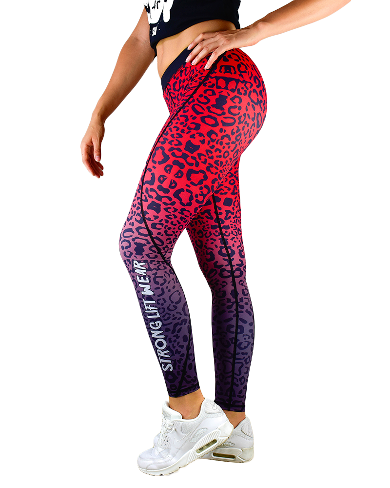 Fusion Compression Pant - Red Leopard