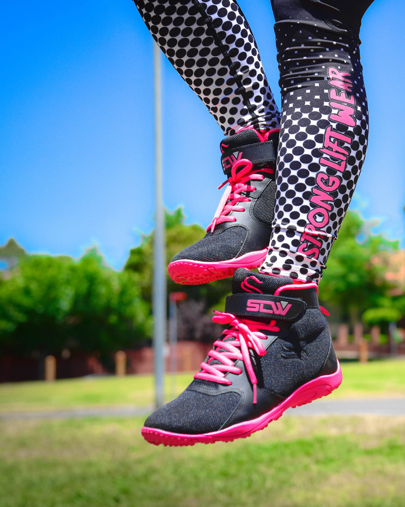 Womens Hurricane Gym Shoe - Black / Pink
