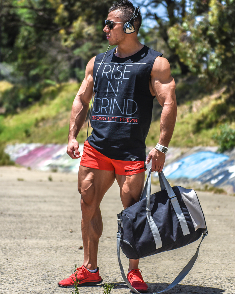 Rise N' Grind Sleeveless Tee - Black - CoolTech