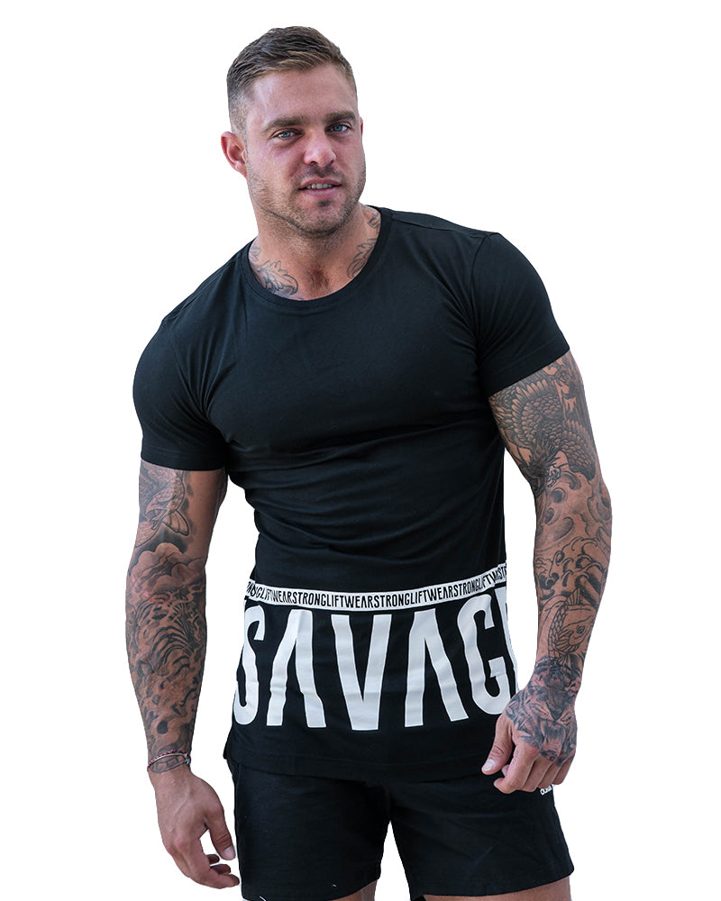 Savage Longline Tee- Black