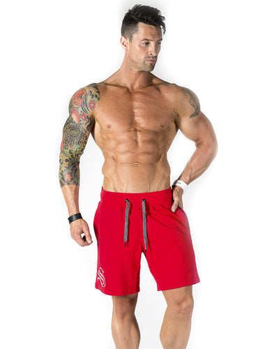Mid Shorts - Red