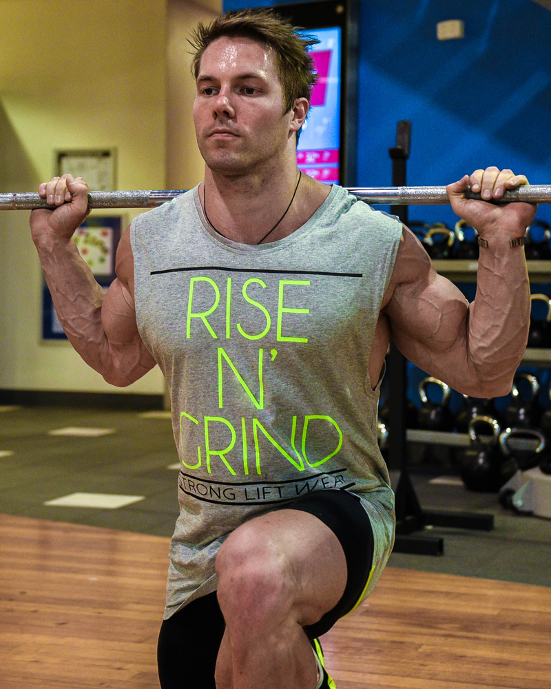 Rise N' Grind Sleeveless Tee - Grey - CoolTech