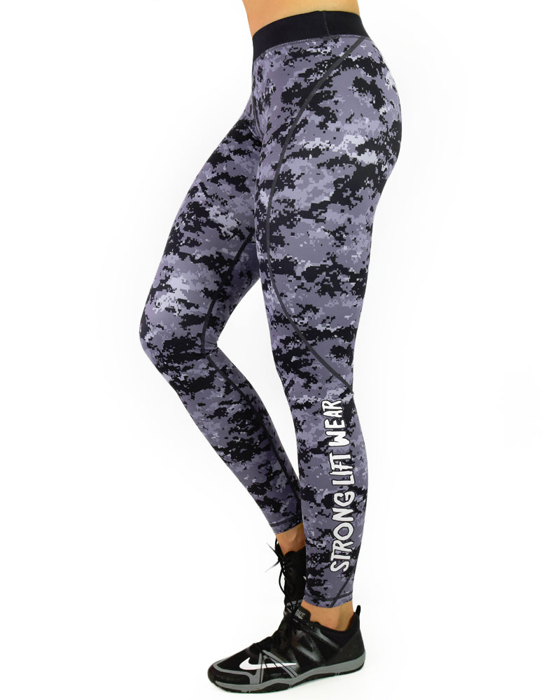 Compression Pants - Black Digital Camo