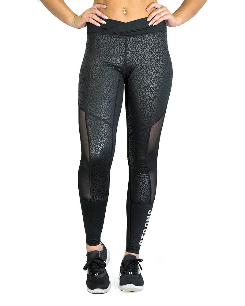 Compression Pants - Premier - Leopard - Black