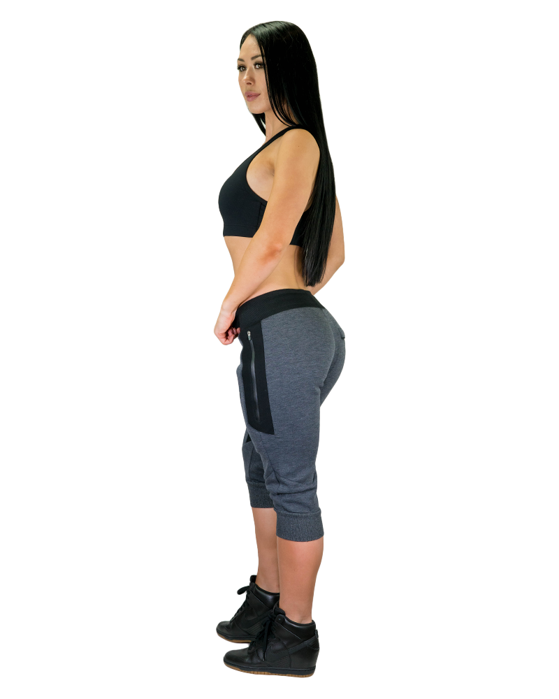 Womens Meshtech 3/4 Training Pant- Grey