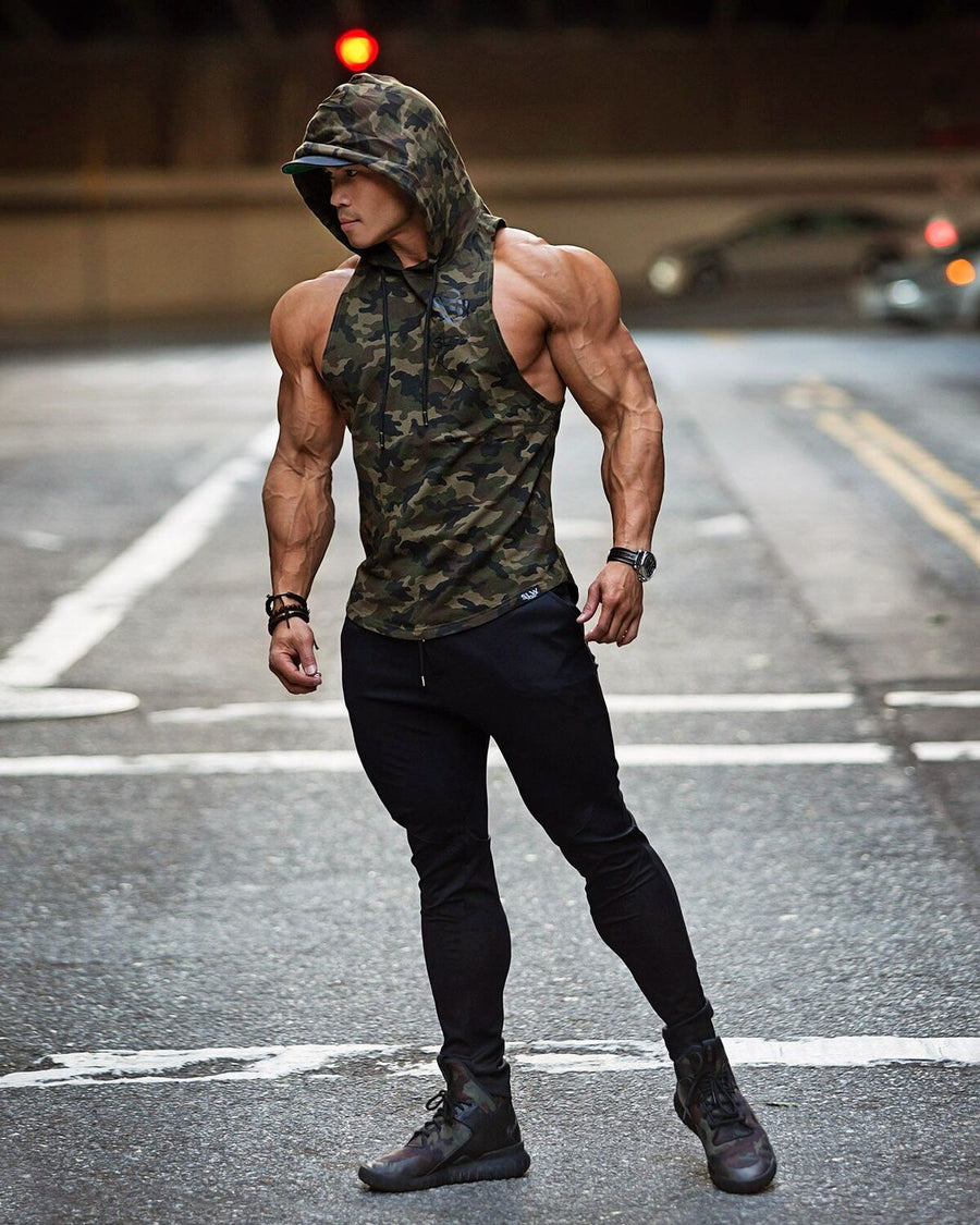 Boulder Sleeveless Hoodie - Total camo