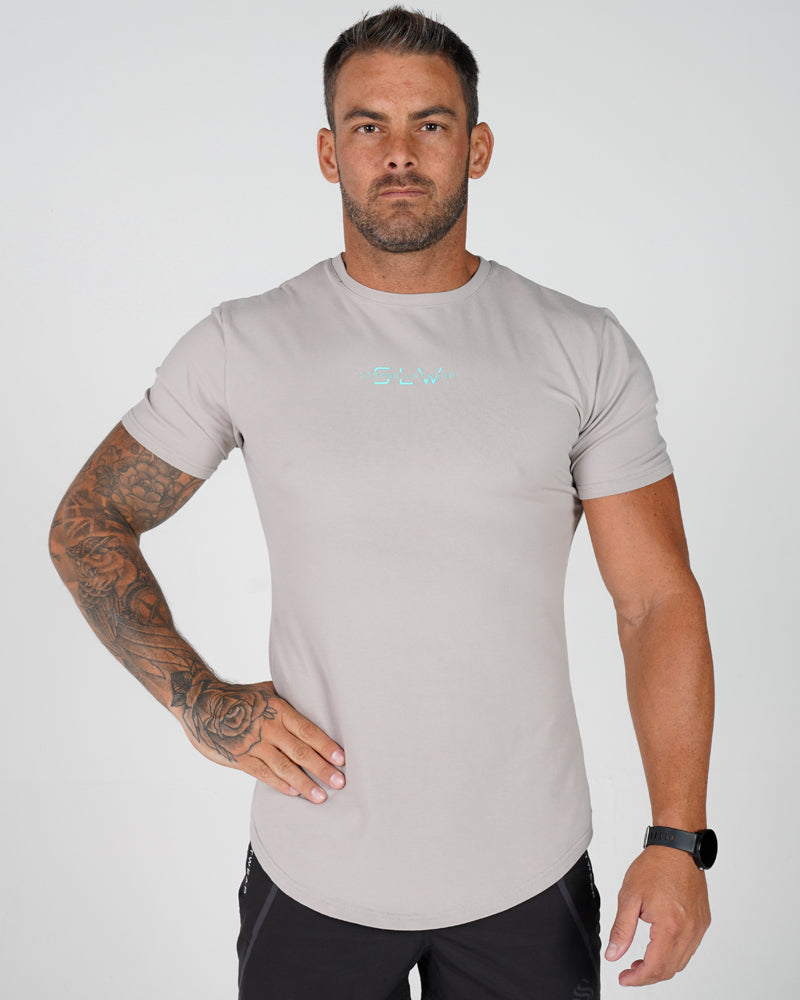 Mens Sculpt Tee - Grey / Tiffany