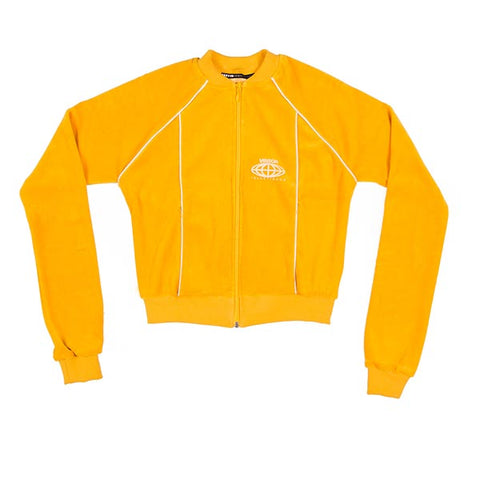 VOE Enterprise Velour Sweat Jacket (Women's) - Mustard