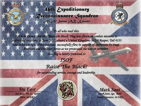 46th Expeditionary Reconnaissance Squadron Certificate of Authenticity - MiseryIncorporated