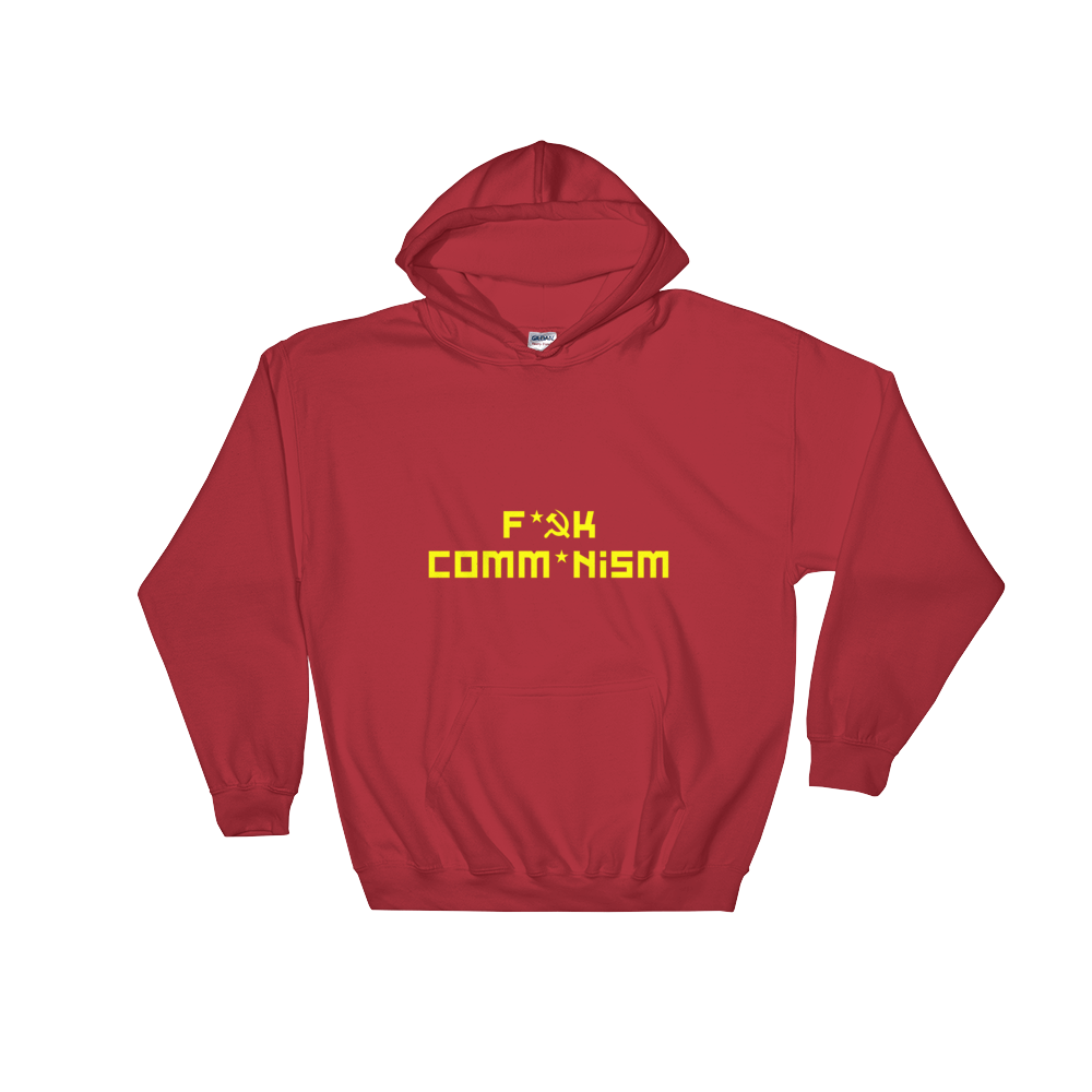 F Comm*nism Hooded Sweatshirt - Red - MiseryIncorporated
