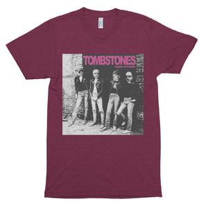 The TOMBSTONES ROCKET TO PRUSSIA  Short sleeve soft t-shirt - Tri-Cranberry - MiseryIncorporated
